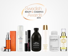 Vinnarna från Swedish Cosmetics & Beauty Awards 2016 på Hudoteket
