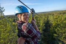Nordeuropas længste zipline åbner i Sverige