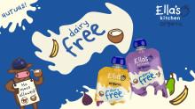 Ella's Kitchen tuo uudet maidottomat, täyteläiset luomuvälipalatuotteet ja uudet motoriikkaharjoittelua tukevat luomumaissitikut Suomeen