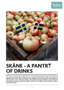 PRESSINFO: Skåne - A pantry of drinks