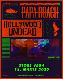 Papa Roach & Hollywood Undead kommer til VEGA 18. marts