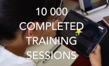 10 000 training sessions completed.