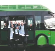 Premiär för matchbussen till MFF den andra april