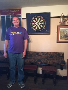​Stroke survivor takes on 12 hour darts marathon for charity