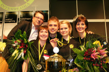 Sverige vann nordiskt mästerskap i blomsterbinderi
