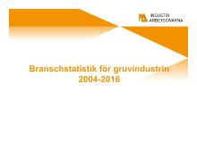 Branschstatistik gruvor Olycksfall 1949-2016