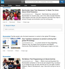 From newsroom to LinkedIn, with just one click