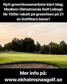 Medlem i Ekholmsnäs Golf Lidingö får fler banor att spela på!