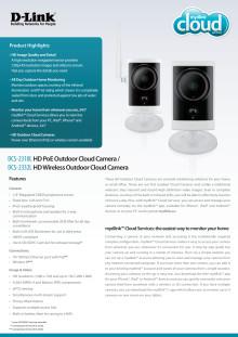 Produktblad D-Link DCS-2310L - utomhuskamera, ip-kamera