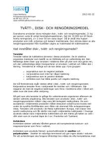 Mer information om disk-, tvätt- och rengöringsmedel