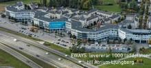 EWAYS  levererar 1000 laddplatser till Atrium Ljungberg