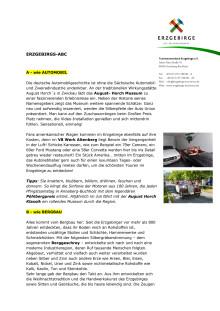 Erzgebirgs - ABC
