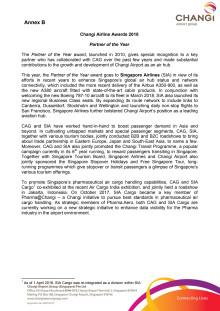 Annex B - Citation for Partner of the Year Award
