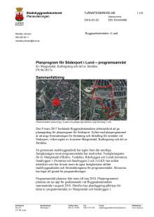 Tjänsteskrivelse, planprogram för Söderport, mars 2018