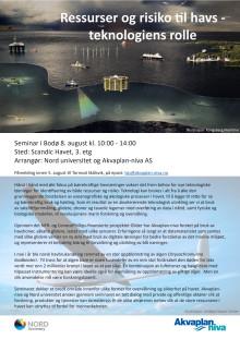 Program seminar blå næringer Bodø august 2019