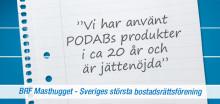 Sveriges största BRF använder PODAB sedan 20 år tillbaka