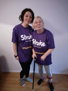 Local woman's Resolution to Run for Stroke Association for stroke survivor Mum