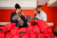 Virgin Trains uniforms put to good use for the homeless