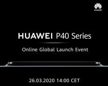 Nya flaggskeppsserien Huawei P40 lanseras 26 mars – Följ den live via YouTube