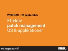 Effektiv patch management av OS och applikationer