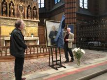Avtäckning av kyrkoherdeporträtt i S:t Johannes kyrka