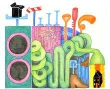 Skräp blir drömstad när barn bygger av återvunnet material