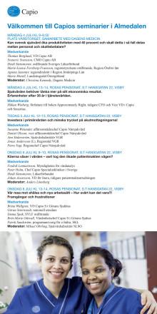 Program för Capio i Almedalen 2016