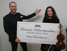Harmonis kulturstipendium till Polina Djusembeyeva