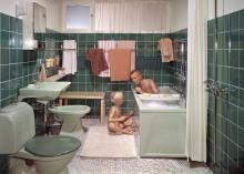 Folkhemmets rum: Badrummet