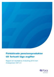 Rapport: Förbättrade pensionsprodukter till fortsatt låga avgifter