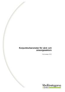 Konjunkturbarometern för vård- och omsorgssektorn, 2012
