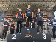Sverige dominerar första dagen på nordiska mästerskapen i Timbersports