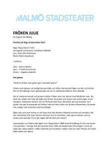 Pressmaterial Fröken Julie