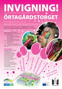 Invigning av Örtagårdstorget 27 juni 2013