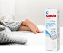 Neu: GEHWOL med Sensitive - Medizinische Pflege für empfindliche Haut