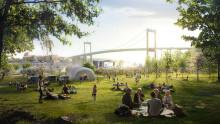 Evenemangsyta, naturlika planteringar och nya stråk i Färjenäsparken till 2021