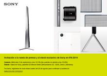 Rueda de prensa SONY en IFA 2014