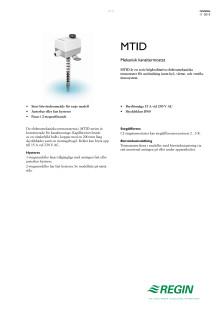 Produktblad för MTID