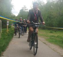 Infrastrukturministern invigde cykelleden Sjuhäradsrundan
