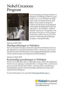 Programkvällar på Nobelmuseet i anslutning till utställningen Nobel Creations