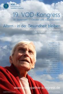 Osteopathie: Auch im Alter vital und beweglich / 19. Internationaler Kongress des Verbandes der Osteopathen Deutschland  vom 30.09. – 02.10.2016 in Bad Nauheim