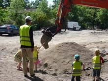 Barnen bygger Framtidens förskola i Sköndal