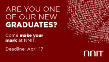 The NNIT Graduate Program is open for applications