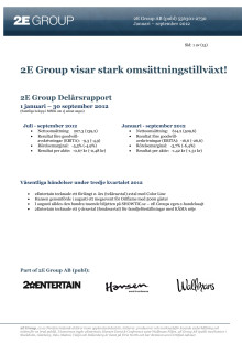 Delårsrapport januari - september 2012