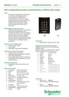 Datalehti: HID:n matkapuhelinluennalla varustetut R10 SE- ja RK40 SE iClass-lukijat