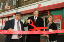 Official Opening for the New Look Bilborough Post Office: Graham Allen MP Cut the Ribbon