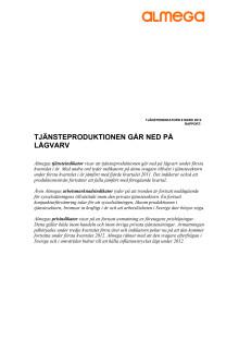 Almegas Tjänsteindikator 2012 Q1
