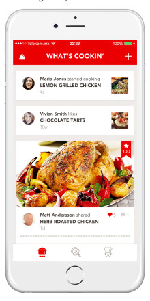 Alite news - Hoorray premium social cooking app in New York Times