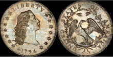 WORLD'S MOST EXPENSIVE COIN ARRIVES IN LONDON - FLOWING HAIR SILVER DOLLAR