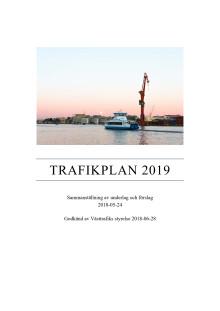Trafikplan 2019